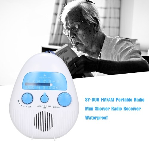 SY-900 FM/AM Portable Radio Mini Shower Radio Receiver Waterproof