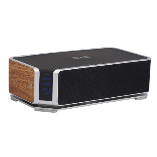 Drahtloser Lade-Wecker BT-Lautsprecheruhr LED-Stereo-tragbarer Lautsprecher