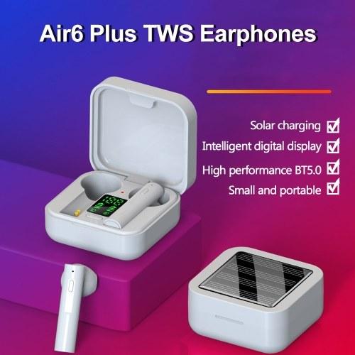 Air6 Plus TWS BT5.0 Waterproof Half In-ear Earphones Solar Charge