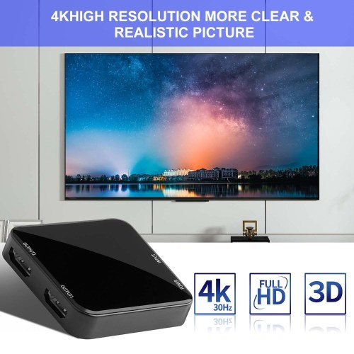 HD02 4K UHD Video Splitter 2.0 1x2 HD 2.0 Splitter Support HDCP 1.4 HDR Splitter Video Extractor Spdif Stereo Audio Converter Adapter