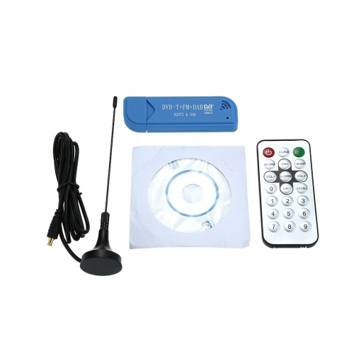 Mini portatile digitale USB 2.0 TV Stick DVB-T + DAB + FM R820T2 Chip Supporto ricevitore sintonizzatore SDR