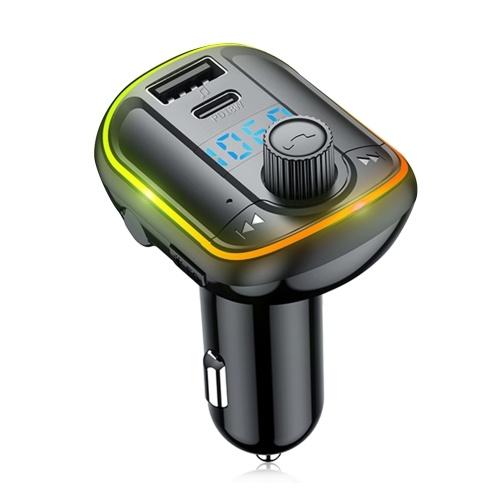 Trasmettitore FM Bluetooth 5.0 per auto Lettore modulatore MP3 Ricevitore audio vivavoce wireless Caricatore rapido USB doppio 3.1A Lettore musicale MP3 Disco TF / U