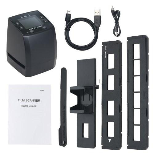 Tragbarer Filmscanner EC717 Film-Diascanner Konvertieren Sie ein monochromes 35-mm-Farbdiafilm-Negativ in ein digitales 2,36-Zoll-LCD-Display mit Negativ-Positiv-Halter-Schnellschieber