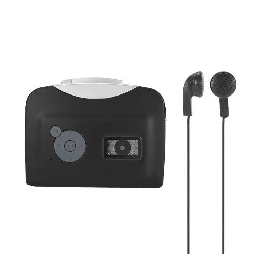 ezcap230 Конвертер кассеты в MP3 Сохранить на USB-флеш-диск Автономный рекордер с автоматическим разделением на разделы с наушниками Черный