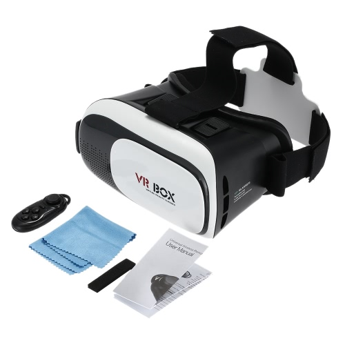 3D VR Glasses Video Movie Game Glasses Head-Mounted Headband with Bluetooth