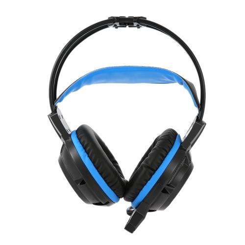 G3 3.5mm mélodieux Gaming Headphone Over-oreille avec Mic Bandeau réglable casque stéréo Bass pour PS PC Ordinateur portable Téléphone mobile