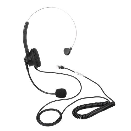 Atendimento ao cliente estéreo Fone de ouvido com fone de ouvido sem fio Mãos livres com microfone para conferência de negócios de escritório