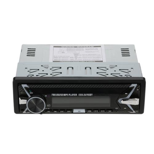 Panneau amovible Autoradio USB Auto Radio 1 Din Indash Multi-couleurs éclairage 7854 BT Musique FM Détachable Lecteur MP3 mains-libres USB Voiture Audio Systèmes stéréo