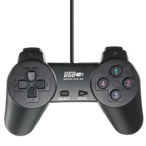Легкий черный проводной джойстик Gamepad Joypad Game Controller