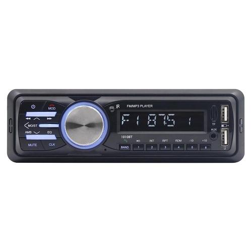 RS-1010BT 1 Din BT Véhicule Voiture Lecteur MP3 Stéréo Lecteur Audio avec Radio FM AUX SD Carte U Disque Lecture LCD Affichage À Distance Télécommande