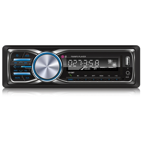 RS-1010BT 1 Din Bluetooth Vehicle Car MP3 Player Stereo Audio Player with FM Radio AUX SD Card U Disk Play LCD Display Remote Control