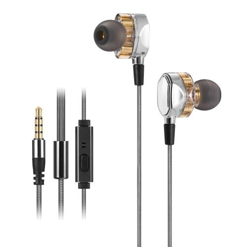 Fone de ouvido estéreo com fio intra-auricular G2