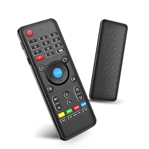Telecomando portatile a doppio lato da 2,4 GHz Air Mouse + tastiera Full-Touchpad