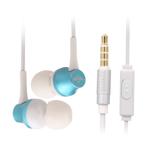 Fones de ouvido com fio de 3,5 mm de ouvido fones de ouvido música fone de ouvido com microfone de ouvido com fio