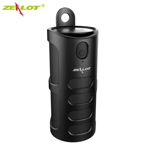 ZEALOT S8 Bluetooth-Lautsprecher Drahtloser Subwoofer Tragbare 3D-Stereo-Lautsprecherabdeckung Touch-Steuerung AUX IN TF-Kartenwiedergabe Freisprecheinrichtung mit Mikrofon