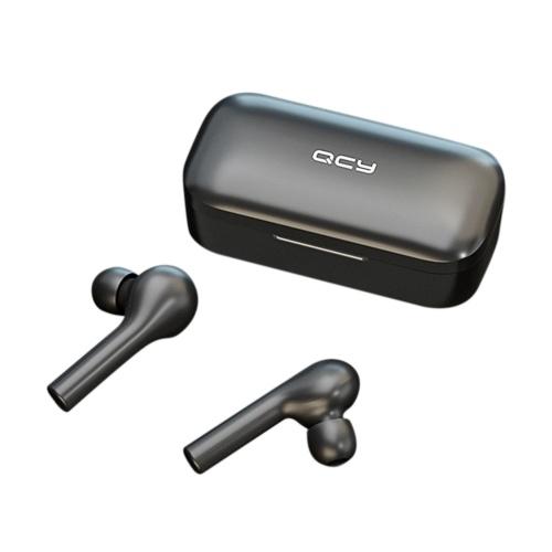 QCY T5 TWS Touch-gesteuerter kabelloser Stereo-Kopfhörer IPX5 Wasserdichte Sport-Ohrhörer mit Mikrofon-Ladekiste