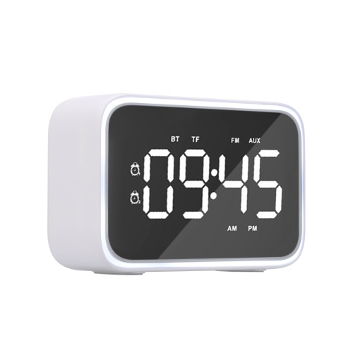 G20E Wireless Bluetooth 5.0 Speaker Alarm Clock Night Lamp FM Radio MP3 Player Support TF Card U Disk Line In Hands-free with Mic Digital Display