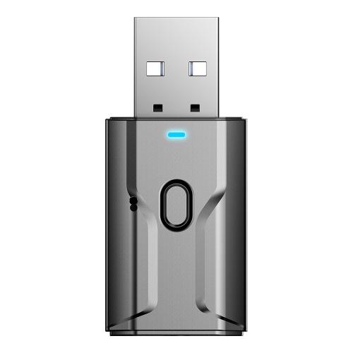 Bluetooth 5.0 Audio Receiver Sender AUX USB 3.5mm Jack Mic Freisprecheinrichtung Anruf für TV Auto PC Musik Stereo Wireless Adapter