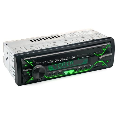 Autoradio-Radio MP3-Player FM USB AUX BT Auto-Multimedia-Player LED-Anzeige Auto-Audio-Empfänger mit buntem Licht
