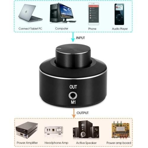 FX-AUDIO M1 Mini Active Volume Control Knob Volume Controller 3.5mm Audio Adjuster PC Amplifier Switcher Volume Control Knob Speaker Audio Adjuster US