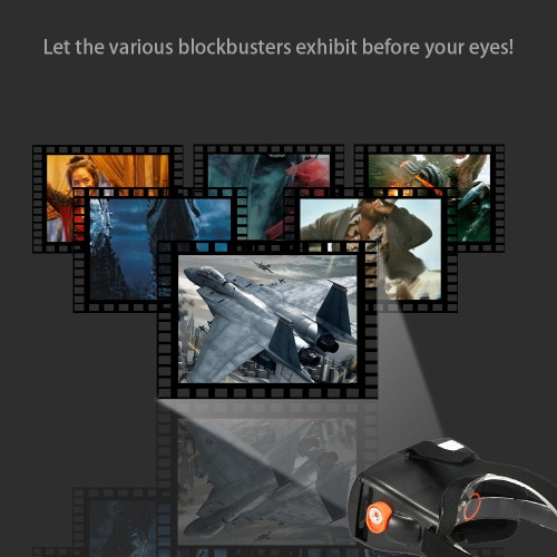 "Head-Mounted Google Cardboard Version 3D VR Glasses Virtual Reality DIY 3D VR Video Movie Game   Glasses  for  4.5 - 5.7"" Smart Ph"