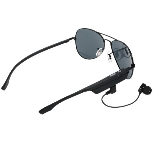 K3 BT casque lunettes de soleil polarisées lunettes & Wireless BT 4.1 + EDR musique casque mains libres w / Mic Black pour iPhone iOS Samsung LG Android Smart Phones Tablet PC