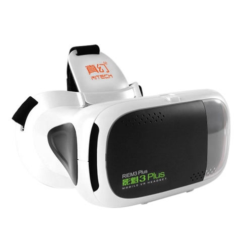 RITECH REIM3 Plus Virtual Reality Glasses 3D VR BOX Headset 3D Movie VR Games Head-mounted Display Universal for Android iOS Smart Phones within 4.7 to 6.0 Inches