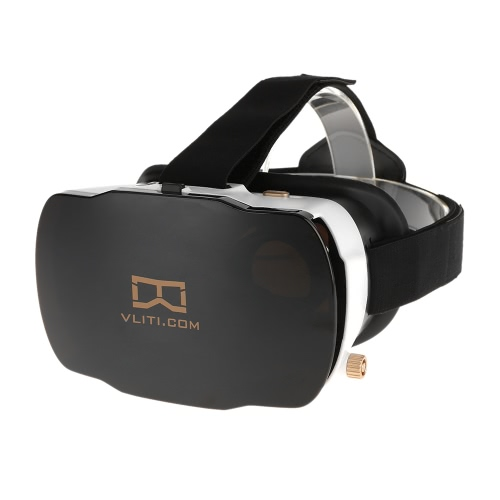 Vliti VR Virtual Reality Glasses 3D VR Box Immersive 3D Movie Game Glasses Universal for Android iOS Smart Phones within 4.0 to 5.5 Inches