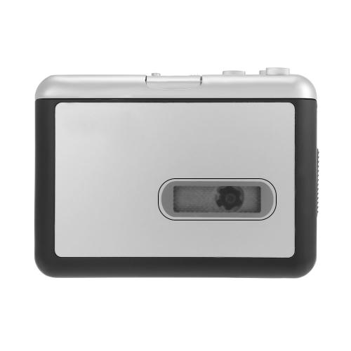 ezcap231 Cassette Tape-to-MP3 Converter Salvar em USB Flash Disk Auto Recorder Partition Standalone w / fone de ouvido preto com cinza