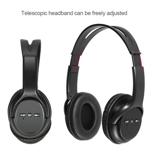 Wireless BT Headphone Over-ear Earphone Hands-free with Mic for iPhone 7 Plus Samsung Galaxy other BT-enabled Devices thumbnail