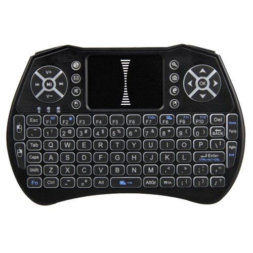 Teclado iluminado 2.4GHz Air Mouse Touchpad Handheld Remote Control Backlight Built-in 800mAh bateria para Android TV BOX Smart TV PC Notebook