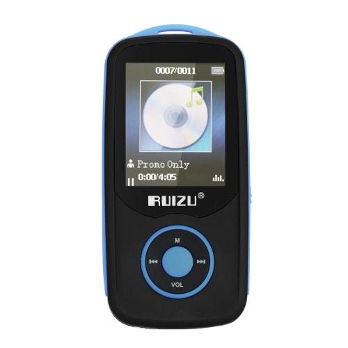 RUIZU X06 Lecteur MP3 / MP4 de 4 Go Lecteur de musique sans perte Connexion BT Recodage de la radio FM avec prise de carte TF Ecran de 1,8 pouces