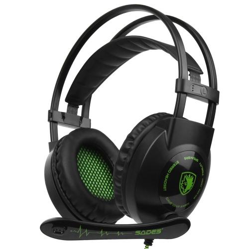SADES SA-801 3.5mm Gaming Headset com microfone