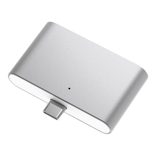Тип-C Hub Портативный многопортовый адаптер USB C к USB 2.0 Micro USB OTG TF / SD Card Reader Алюминиевый сплавный конвертер для Macbook Samsung Galaxy S8 HTC P10 HUAWEI P10