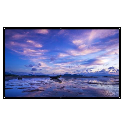 H100 16: 9 100 Zoll tragbare faltbare Diagonale Projektionsfläche HD
