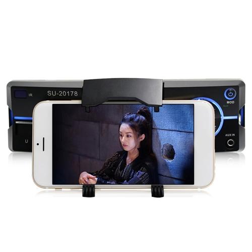 1 автомобильный MP3-плеер Din BT с кронштейном для мобильного телефона и пультом дистанционного управления