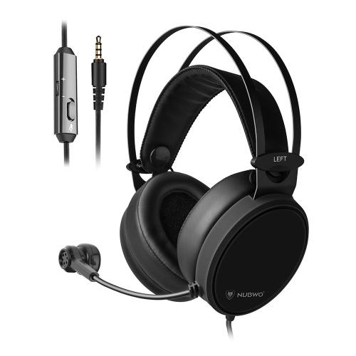 NUBWO N7 3,5mm Fone de ouvido para jogos Fones de ouvido de graves profundos no ouvido Fone de ouvido com microfone para PS4 Novo Xbox One PC Smart Phone
