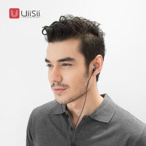 UiiSii Hi810 Metal Auriculares In-ear Auriculares Estéreo Bass Auriculares con micrófono para iPhone Xiaomi Android MP3