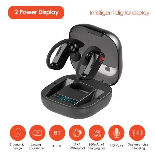 Q62 Kopfhörer BT powerHBQ PRO Digitalanzeige-Freisprechkopfhörer Sport-Ohrhörer