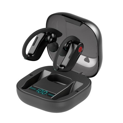 Q62 Fone de ouvido BT powerHBQ PRO Display Digital Fone de ouvido com viva-voz Fones de ouvido esportivos