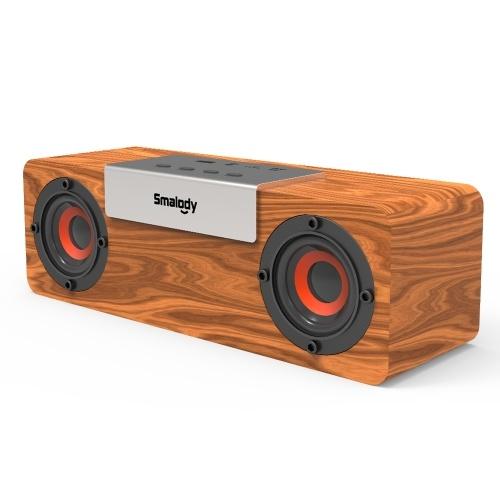 Portable Outdoor BT Speaker Wooden Wireless Multifunctional Stereo Speakers Powerful Handheld Soundbox