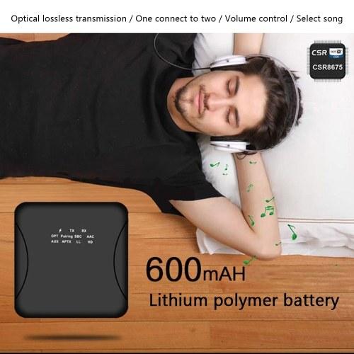 Xu21 Bluetooth 5.0 Transmitter Receiver CSR8675 APTX LL HD BT Audio Music Wireless USB Adapter 3.5mm 3.5 AUX Jack/SPDIF/RCA for TV PC