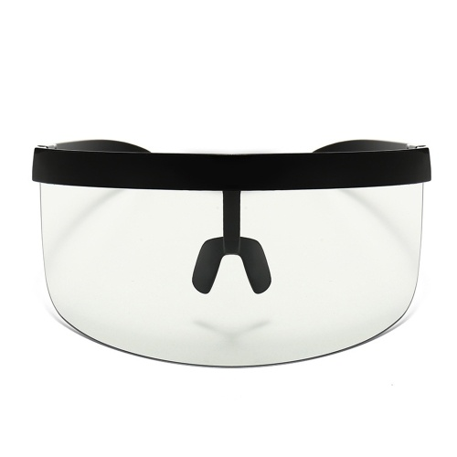 Half Face Mask Sun Protection Goggles Large Mirror Sun Glasses Half Face Shield Guard Protector Sun Glasses UV Outdoor Sports Glasses