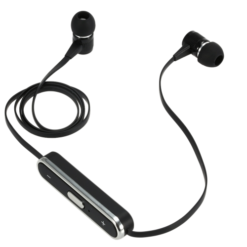 Wireless Bluetooth Sports Headphone Bluetooth 4.1 + EDR  Stereo Headset Turbo Bass Hands-free Muscic Earphone with Mic Black for iPhone 6S 6 6Plus Samsung S6 S5 Note 4 3 HTC LG Notebook Tablet PC