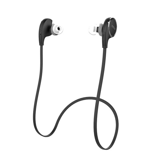 QCY QY8 Sport  BT Headset In-ear Wireless Stereo BT 4.1 + EDR Headphone Outdoor & Indoor Use Music Earphone Hands-free with Microphone Black for iPhone 6S Plus 6S 6 LG Samsung S6 S5 Note 5 Tablet PC