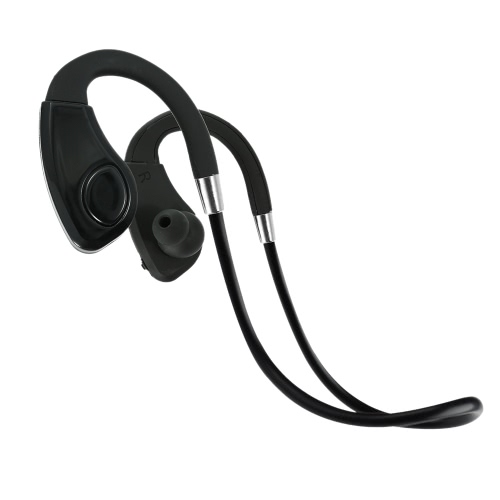 Rear-hanging Stereo Bluetooth Headset  Sports Sweat-proof Bluetooth 4.1 + EDR Music Earphone Hands-free  w/ Mic Black Headphone for iPhone 6S 6 Samsung S6  Note 5 LG Notebook Tablet PC