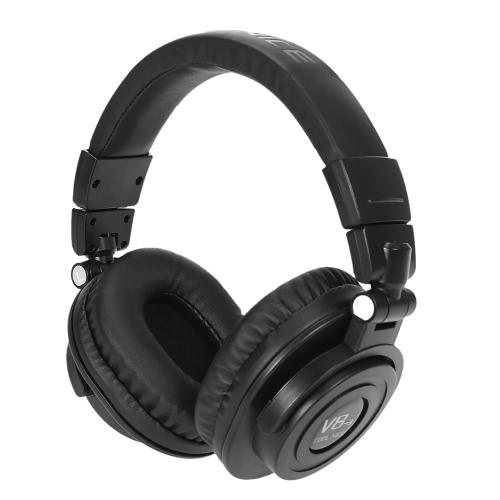 Cool sympa V8-3 pliage Wireless BT casque BT ® 4. 0 + EDR puissant basse casque stéréo mains-libres w / Mic pour iPhone Samsung ordinateurs tablettes MP3 Player tous les périphériques BT (noir)