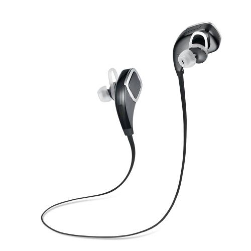 LH-629 Wireless BT stéréo casque BT 4.0 + Ecouteurs intra-auriculaires ERD avec Mic invite vocale mains libres pour iPhone6 6Plus Samsung Galaxy HTC portable noir
