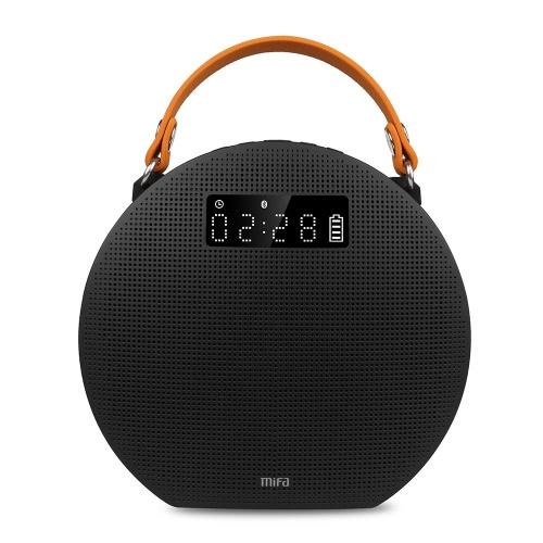 Mifa M9 sem fio BT 4.0 Speaker 5200mAh Power Bank aplicativo de controle de entrada auxiliar mãos-livres uso ao ar livre para telefones iOS / Android inteligente outros dispositivos BT-enabld Preto