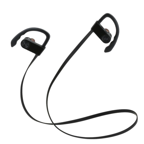 BH-01 Bluetooth Headphone In-ear Stereo Headset Outdoor Sport Music Earphone Hands-free w/ Mic Black for Running Gym Exercise